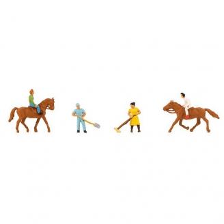 Cavaliers, Palfreniers et Chevaux-N 1/160-FALLER 155363