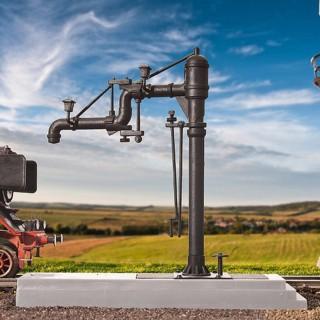 Set 2 pompes à eau avec robinet mobile-HO-1/87-KIBRI 39422