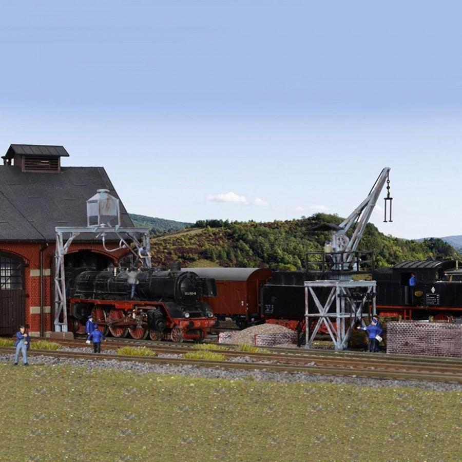 Installation de ravitaillement charbon et sable-HO-1/87-KIBRI 39434