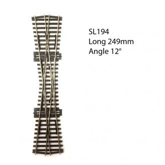 Croisement 249mm, 12°, code 75  -HO 1/87-PECO SL194