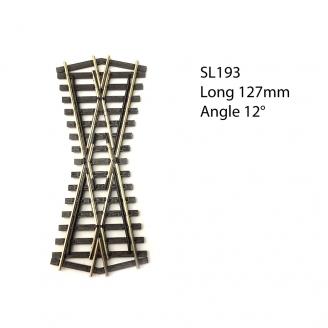 Croisement court 127mm, 24°, code 75  -HO 1/87-PECO SL193