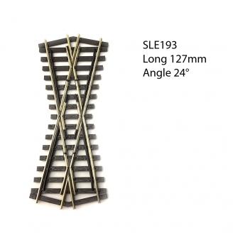 Croisement court 127mm, 24°, code 75  -HO 1/87-PECO SLE193