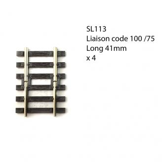 4 rails 41mm pour passer du code 100 au 75 -HO-1/87-PECO SL113