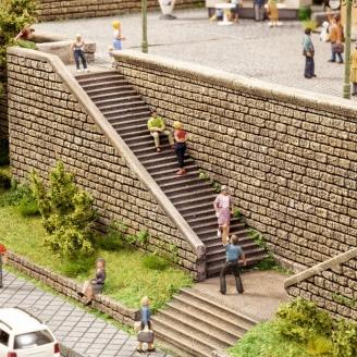 2 Grands escaliers en pierre-HO-1/87-NOCH 58303