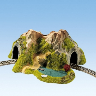 Tunnel courbe 1 voie-N 1/1607-NOCH 34660