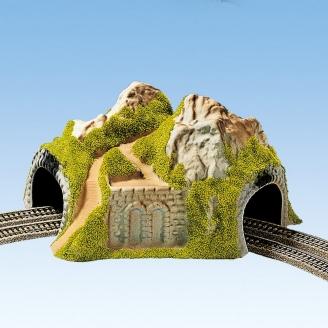 Tunnel courbe 2 voies-N 1/1607-NOCH 34730