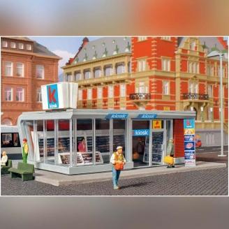 Kiosque à journaux moderne lumineux-HO 1/87-KIBRI 39008