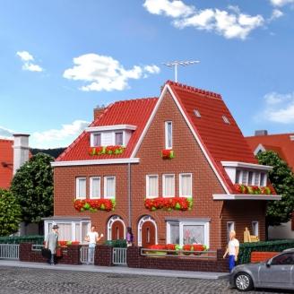 Maisons jumelés-HO 1/87-KIBRI 38325