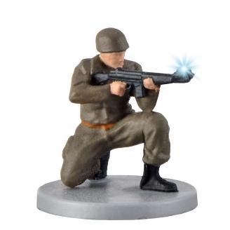 Soldat avec fusil et lumière animée-HO 1/87-VIESSMANN 1531