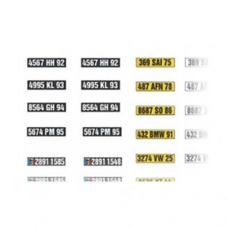 Planche de Plaques Minéralogiques (1965 - 2009)-HO 1/87-SAI 850