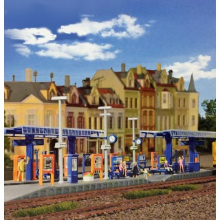 Quai de Gare semi-couvert-HO-1/87-KIBRI 39556