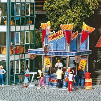 Stand de frites - Fête Foraine-HO-1/87-FALLER 140444