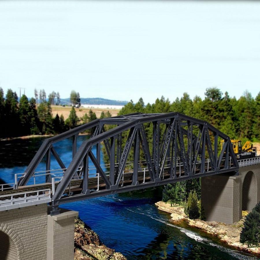 Pont droit à arc acier 1 voie-HO-1/87-KIBRI 39700