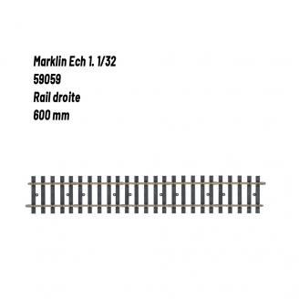 Rail droite 600 mm-1 1/32-MARKLIN 59059