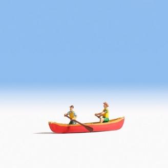 2 personnages en canoë-N 1/160-NOCH 37805