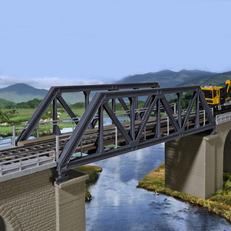 Pont droit en acier 1 voie-HO-1/87-KIBRI 39701