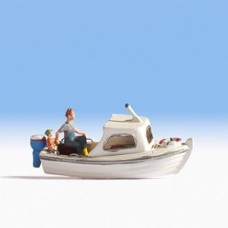 Personnage sur sa barque de pêche-HO 1/87-NOCH 16822