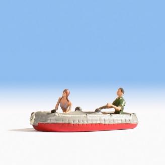 2 personnages en canot pneumatique-N 1/160-NOCH 37815