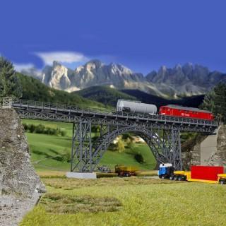 Viaduc droit en acier 1 voie-HO-1/87-KIBRI 39704