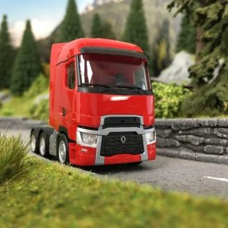 Camion Tracteur Renault T 6x2 Rouge-HO 1/87-HERPA 311571