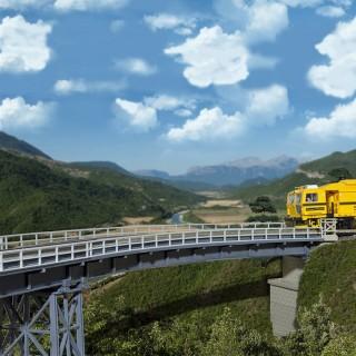 Pont courbe acier 1 voie-HO-1/87-KIBRI 39706