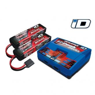 Pack Chargeur EZ-Peak Dual-ID + Accus 3S 5000 mAh-TRAXXAS 2990G