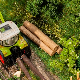 16 troncs d'arbres en kit - HO 1/87 - FALLER 180986