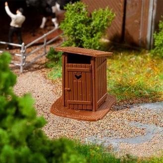 Cabanon WC d'extérieur en kit - HO 1/87 - FALLER 180988