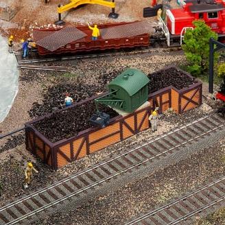 Dépôt de charbon-HO 1/87-FALLER 120286