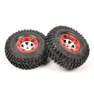 """2 roues Terre """"Beadlock"""" Hexa 12 mm - 1/10 1/12 - T2M T4928/29"""
