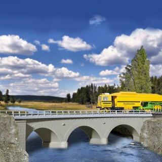 Pont courbe à arc maçonné 1 voie-HO-1/87-KIBRI 39723