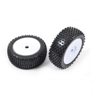 """2 roues """"Aero"""" pleine pour buggy Hexa 17 mm - 1/10  1/8 - T2M T4903/1A"""