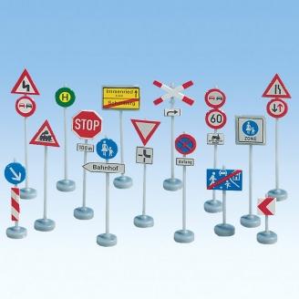 270 panneaux de signalisation routière- HO 1/87 -NOCH 60521