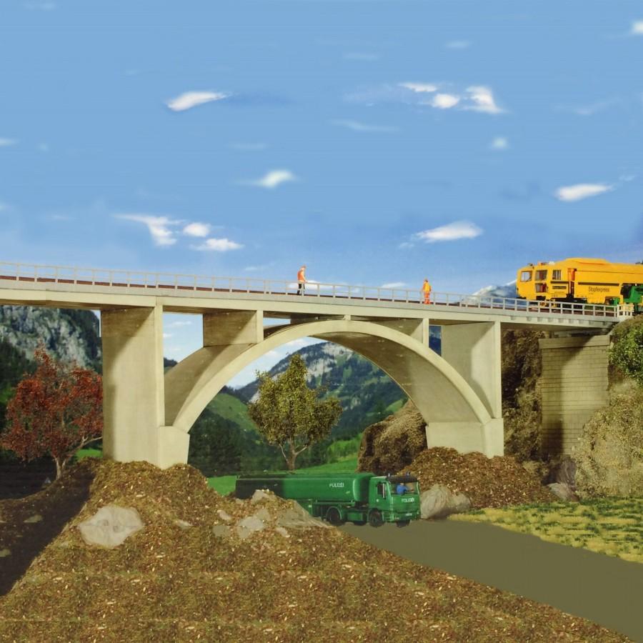 Pont droit béton 1 voie-HO-1/87-KIBRI 39740