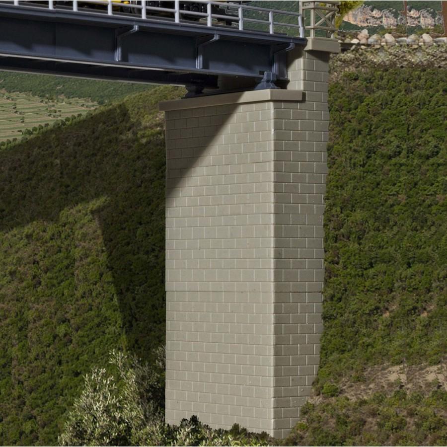 2 têtes de Pont maçonnés-HO-1/87-KIBRI 39750