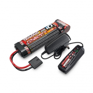 Pack Chargeur 2A + Ni-Mh 8.4V 3000mAh-TRAXXAS 2983G