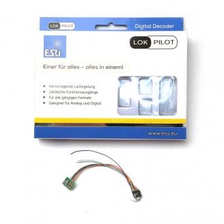Décodeur digital micro 8 pôles, NEM652 lokpilot  V5 -H0 1/87-  ESU59820