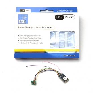 Décodeur digital 8 pôles, NEM652 lokpilot  V5 -H0 1/87-  ESU59610