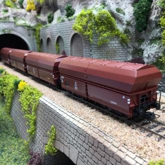 4 wagons trémies DB Ep II et IV -HO-ROCO 67083