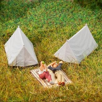 """4 Toiles de tentes """"Canadiennes""""-HO 1/87-FALLER 180987"""