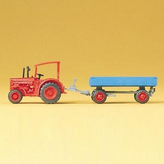 Tracteur Hanomag avec remorque - N 1/160 - PREISER 79502