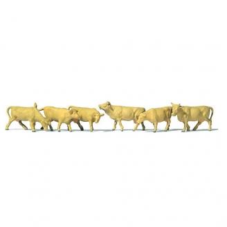 6 Vaches Beiges - N 1/160 - PREISER 79229