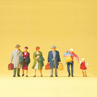 Couples et famille de voyageurs - N 1/160 - PREISER 79191