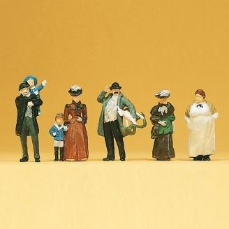6 Figurines (1900)-HO 1/87-PREISER 12176