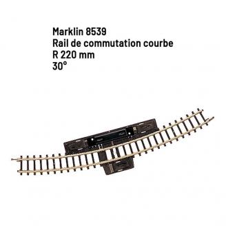 Rail de commutation courbe R 220 mm 30 degrés - Z 1/220 - MARKLIN 8539