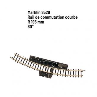 Rail de commutation courbe R 195 mm 30 degrés - Z 1/220 - MARKLIN 8529