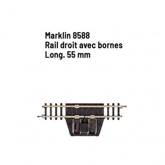Rail droit avec bornes 55 mm - Z 1/220 - MARKLIN 8588