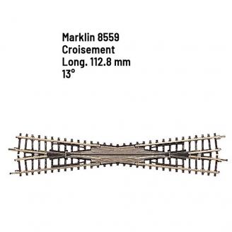 Croisement 112.8 mm - 13 degrés - Z 1/220 - MARKLIN 8559