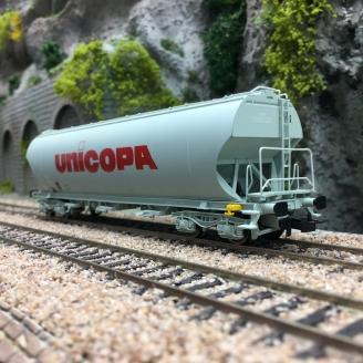 Wagon céréalier, livrée UNICOPA SNCF Ep IV -HO 1/87-JOUEF HJ6184
