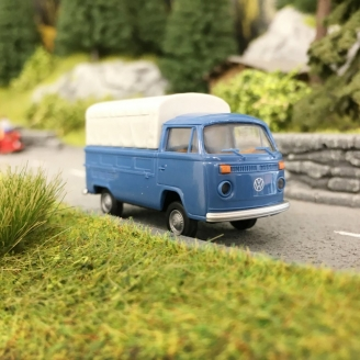 VW T2 Combi Bay Window plateau baché-HO 1/87-BREKINA 33930